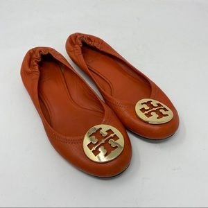 Tory Burch Shoes Reva Leather Ballet Flats Slip On